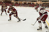 Alex Carpenter (BC - 5), Grace Zarzecki (Harvard - 12) - The visiting Boston College Eagles defeated the Harvard University Crimson 2-0 on Tuesday, January 19, 2016, at Bright-Landry Hockey Center in Boston, Massachusetts.