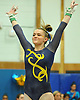 Jenna Plant of Massapequa completes her performance on the uneven bars during the Nassau County varsity gymnastics team championship at Berner Middle School in Massapequa on Thursday, Feb. 15, 2018.