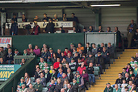 The press box during the Sky Bet League 2 match between Yeovil Town and Wycombe Wanderers at Huish Park, Yeovil, England on 8 October 2016. Photo by Mark  Hawkins / PRiME Media Images.