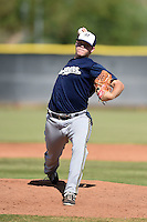 Milwaukee Brewers pitcher Brandon Woodruff (69) during an Instructional League game against the Los Angeles Angels of Anaheim on October 9, 2014 at Tempe Diablo Stadium Complex in Tempe, Arizona.  (Mike Janes/Four Seam Images)