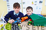 Michael O'Donoghue and Liam O'Brien with their project on farm safety and energy efficient agitators at the St Brendan's College Science Fair on Tuesday