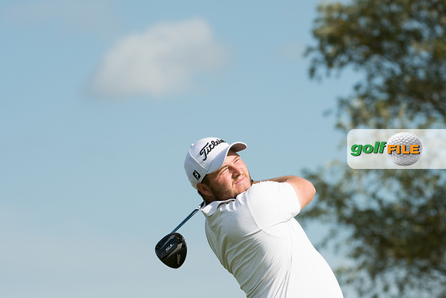 Zander Lombard (RSA) in action on the 12th hole during the 1st round at the KLM Open, The International, Amsterdam, Badhoevedorp, Netherlands. 12/09/19.<br /> Picture Stefano Di Maria / Golffile.ie<br /> <br /> All photo usage must carry mandatory copyright credit (© Golffile | Stefano Di Maria)