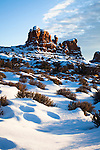 Over many years, the forces of erosion have created fantabulous shapes of rock.  Many such arches, pinnacles, and spires can be viewed at Arches National Park, near Moab, Utah.