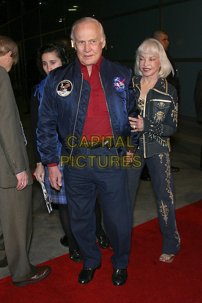 "BUZZ ALDRIN & LOIS ALDRIN.""The Astronaut Farmer"" World Premiere - Arrivals held at the Cinerama Dome, Hollywood, California , USA, .20 February 2007..full length married couple husband wife space blue jacket denim .CAP/ADM/ZL.©Zach Lipp/AdMedia/Capital Pictures."
