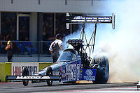Sept. 23, 2012; Ennis, TX, USA: NHRA top fuel dragster driver Antron Brown during the Fall Nationals at the Texas Motorplex. Mandatory Credit: Mark J. Rebilas-US PRESSWIRE