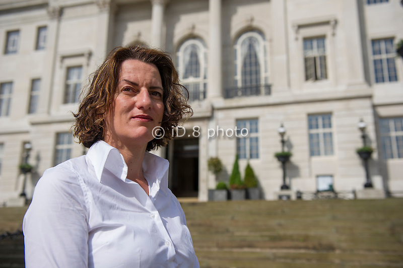 Councillor Donna Green in front of Barnsley Council offices