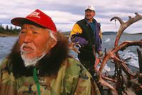 Inupiaq Caribou hunters Robert and Floyd Mulluk, Alaska, USA, Arctic