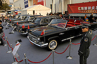 FAW Hongqi(Red Flag) old sedans at the 2006 International Automotive Exhibition in Beijing.