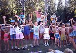 children and Banana Slug String Band at Strawberry Festival