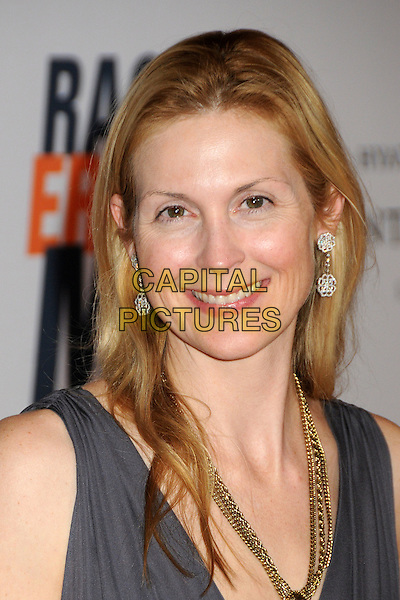 KELLY RUTHERFORD.17th Annual Race To Erase MS held at the Hyatt Regency Century Plaza Hotel, Century City, California, USA..May 7th, 2010.headshot portrait earrings grey gray gold necklace no make-up natural sleeveless.CAP/ADM/BP.©Byron Purvis/AdMedia/Capital Pictures.