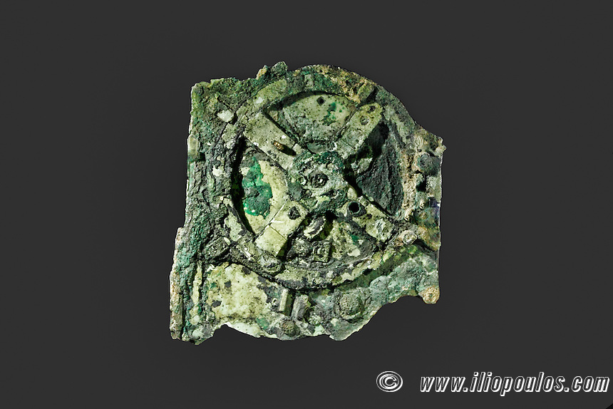 The Antikythera Mechanism (150 B.C.) in National Museum, Greece