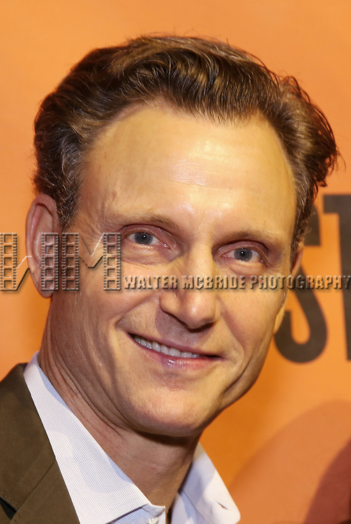 Tony Goldwyn backstage at  the Second Stage Theater Broadway lights up the Hayes Theatre at the Hayes Theartre on February 5, 2018 in New York City.