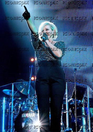 The Nolans - Bernie Nolan - performing ;ove at the Echo Arena in Liverpool UK - 24 Oct 2009.  Photo credit: Sakura Henderson/IconicPix