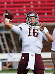 Texas A&M Aggies quarterback Matt Joeckel (16) in action during the game between the Southern Methodist Mustangs and the Texas A&M Aggies at the Gerald J. Ford Stadium in Dallas, Texas. Texas A & M defeats SMU 48 to 3..