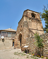 Picture & image of the medieval fortified gate to the Cathedral Of Transfiguration, Medieval Georgian Orthodox, 7-9th century,  Ruisi, Georgia.<br /> <br /> A typical Georgian cruciform & cupola church Ruisi Cathedral Of Transfiguration was built by King Vakhtang Gorgasali in a typical 7th century style.