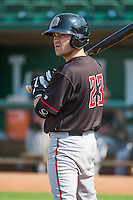 Joe Jocketty (23) of the Billings Mustangs at bat against the Ogden Raptors in Pioneer League action at Lindquist Field on August 16, 2015 in Ogden, Utah. Billings defeated Ogden 6-3.  (Stephen Smith/Four Seam Images)