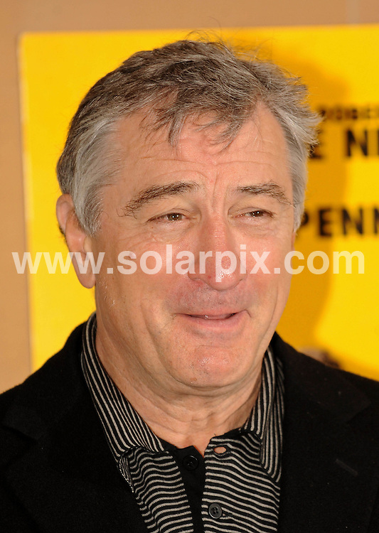 **ALL ROUND PICTURES FROM SOLARPIX.COM**.**WORLDWIDE SYNDICATION RIGHTS**.Robert De Niro photocall for 'What Just Happened'.  Held at the Dorchester, Park Lane, London..JOB REF: 7840      SSD     DATE:10.11.08.**MUST CREDIT SOLARPIX.COM OR DOUBLE FEE WILL BE CHARGED* *UNDER NO CIRCUMSTANCES IS THIS IMAGE TO BE REPRODUCED FOR ANY ONLINE EDITION WITHOUT PRIOR PERMISSION*