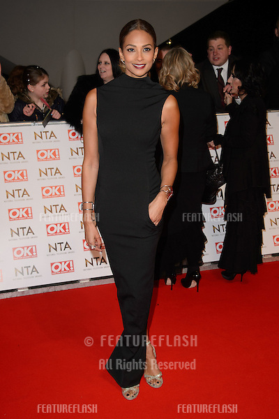 Alesha Dixon arrives for the National TV Awards 2015 at the O2 Arena, Greenwich London. 21/01/2015 Picture by: Steve Vas / Featureflash