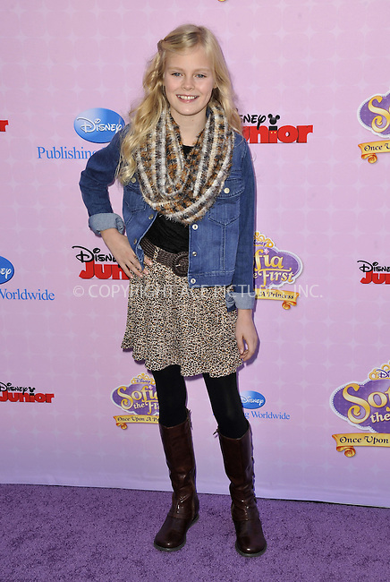 WWW.ACEPIXS.COM....November 10, 2012, Los Angeles, CA.....Harley Graham arriving at the premiere of 'Sofia The First: Once Upon a Princess' at Walt Disney Studios on November 10, 2012 in Burbank, California.......By Line: Peter West/ACE Pictures....ACE Pictures, Inc..Tel: 646 769 0430..Email: info@acepixs.com