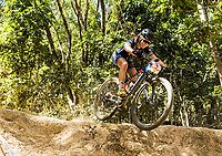 Picture by Alex Broadway/SWpix.com - 07/09/17 - Cycling - UCI 2017 Mountain Bike World Championships - XCO - Cairns, Australia - Laura Lecomte of France competes in the Women's Junior World Championship Race.
