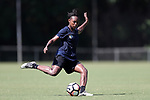 CARY, NC - JULY 20: Taylor Smith. The North Carolina Courage held a training session on July 20, 2017, at WakeMed Soccer Park Field 3 in Cary, NC.