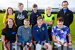 Killarney Community College tag rugby team at the KETB Schools Senior Cycle Tag Rugby blitz in the Kerry Sports and Leisure Centre, Tralee on Monday.<br /> Kneeling l-r, Neidin O&rsquo;Sullivan, Lukasz Siembab, Greg Moriarty and Alex Fogarty.<br /> Back l-r, Aisling Scotland, JP Reen, Bernard Dunne, Dasha Puzanova and Brian O&rsquo;Reilly (Teacher).