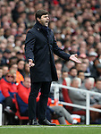 Tottenham's Mauricio Pochettino in action during the Premier League match at the Emirates Stadium, London. Picture date November 6th, 2016 Pic David Klein/Sportimage
