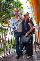 Bobby Rydell and his wife, Linda Hoffman take a holiday at La Playa Beach Resort along Gulf of Mexico in Naples, Florida, USA, June 13, 2011. Photo by Debi Pittman Wilkey