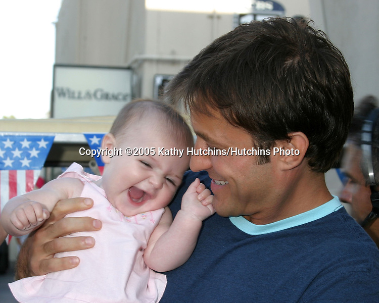 Ty Treadway and daughter Samantha.Studio City 4th of July Celebration.CBS Radford Lot.Studio City, CA.July 4, 2005.©2005 Kathy Hutchins / Hutchins Photo