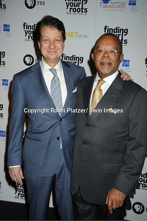 "Neal Shapiro and Henry Louis Gates, Jr attends the PBS""s Finding Your Roots with Henry Louis Gates, Jr  Premiere screening   at The Allen Room at Frederick P Rose Hall in New York City on March 19, 2012."