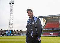 Sam Wood of Wycombe Wanderers checks out the pitch ahead of the Sky Bet League 2 match between Grimsby Town and Wycombe Wanderers at Blundell Park, Cleethorpes, England on 4 March 2017. Photo by Andy Rowland / PRiME Media Images.