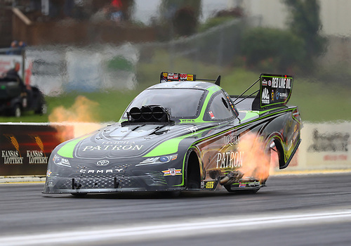 NHRA Mello Yello Drag Racing Series<br /> Menards NHRA Heartland Nationals<br /> Heartland Park, Topeka, KS USA<br /> Friday 19 May 2017 Chad Head, Patron, funny car, Toyota, Camry<br /> <br /> World Copyright: Mark Rebilas<br /> Rebilas Photo
