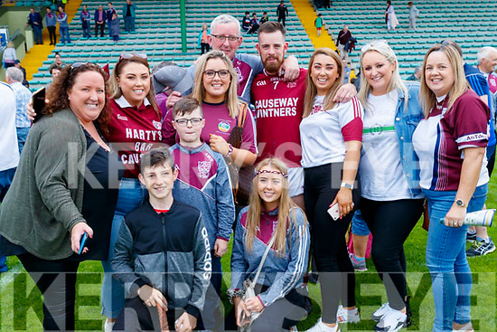 Causeway supporters pictured after the county hurling final Lorraine and Ian McElligott, Linda O'Leary, Aaron McElligott, Sinead Fealy, Christopher Fealy, player is Anthony Fealy with Gillian O'Leary, Ann O'Sullivan and Deborah Fealy.