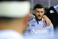 Jeff Williams of Bath Rugby looks on in a post-match huddle. Aviva Premiership match, between Exeter Chiefs and Bath Rugby on October 30, 2016 at Sandy Park in Exeter, England. Photo by: Patrick Khachfe / Onside Images