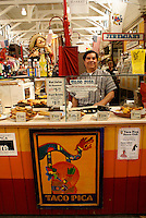Guatemaln refugee selling traditional Guatemalan and Mexican food in the city of Saint John, New Brunswick, Canada