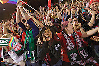 Portland, Oregon - Sunday September 11, 2016: thorns fans react at the end of the match during a regular season National Women's Soccer League (NWSL) match at Providence Park.