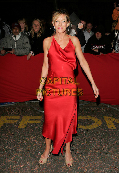 AMANDA CATHERWOOD.Arrivals - Greatest Britons 2007 Awards Show, .The London Studios, London, Engand, May 21st 2007. .full length long red maxi dress.CAP/AH.©Adam Houghton/Capital Pictures.