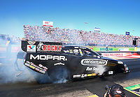 Sept. 21, 2013; Ennis, TX, USA: NHRA funny car driver Matt Hagan during the Fall Nationals at the Texas Motorplex. Mandatory Credit: Mark J. Rebilas-