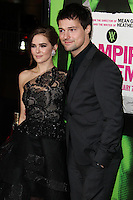 "LOS ANGELES, CA - FEBRUARY 04: Zoey Deutch, Danila Kozlovsky at the Los Angeles Premiere Of The Weinstein Company's ""Vampire Academy"" held at Regal Cinemas L.A. Live on February 4, 2014 in Los Angeles, California. (Photo by Xavier Collin/Celebrity Monitor)"