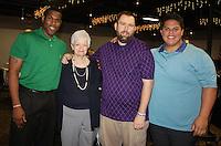 NWA Democrat-Gazette/CARIN SCHOPPMEYER Marc Ridout (from left) Mary Jo Elliott, Joe Elliott and Jordan Gunn attend the Arkansas Support Network honors luncheon June 29. Mary Jo was presented the Jeff Nolte Outstanding Parent Advocate Award at the the luncheon.