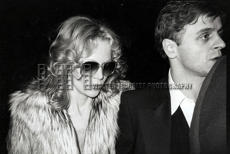 © WALTER McBRIDE / , USA...MISHA BARYSHINKOV AND ACTRESS/GIRLFRIEND.TUESDAY WELD    DECEMBER 29, 1982.LEAVING THE RAINBOW ROOM.NEW YORK CITY.CREDIT ALL USES