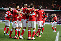 Charlton Athletic  players celebrates the first goal during Charlton Athletic vs West Bromwich Albion, Sky Bet EFL Championship Football at The Valley on 11th January 2020