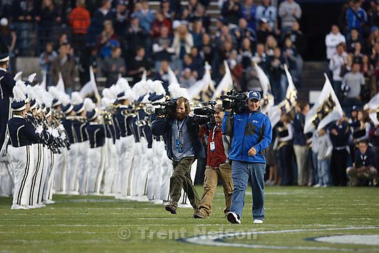 BYU vs. Utah State University college football Friday, October 2 2009 in Provo. pete deluca dance