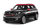 2016 MINI Countryman JCW 5 Door Hatchback Angular Front stock photos of front three quarter view