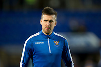 12th February 2020; McDairmid Park, Perth, Perth and Kinross, Scotland; Scottish Premiership Football, St Johnstone versus Motherwell; Callum Booth of St Johnstone during the warm up before the match