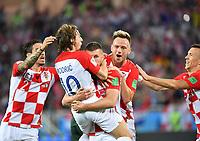 (180616) -- KALININGRAD, June 16, 2018 -- Players of Croatia celebrate after Nigeria s Oghenekaro Etebo scored an own goal during a group D match between Croatia and Nigeria at the 2018 FIFA World Cup WM Weltmeisterschaft Fussball in Kaliningrad, Russia, June 16, 2018. ) (SP)RUSSIA-KALININGRAD-2018 WORLD CUP-GROUP D-CROATIA VS NIGERIA LiuxDawei <br /> Kalininrad 16-06-2018 Football FIFA World Cup Russia  2018 <br /> Croatia - Nigeria / Croazia - Nigeria<br /> Foto Xinhua/Imago/Insidefoto