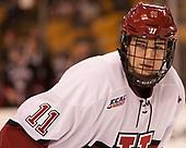 Ty Pelton-Byce (Harvard - 11) - The Harvard University Crimson defeated the Northeastern University Huskies 4-3 in the opening game of the 2017 Beanpot on Monday, February 6, 2017, at TD Garden in Boston, Massachusetts.