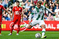GRONINGEN - Voetbal, FC Groningen - FC Twente, Eredivisie, seizoen 2019-2020, 10-08-2019, FC Groningen speler Kaj Sierhuis mist de toegekende strafschop