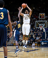 Allen Crabbe of California shoots the ball during the game against UC Irvine at Haas Pavilion in Berkeley, California on November 11th, 2011.  California defeated UC Irvine, 77-56.