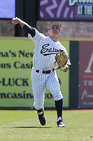 Drew Hillman of the University of California at Irvine in the outfield during a game against James Madison University at the Baseball at the Beach Tournament held at BB&T Coastal Field in Myrtle Beach, SC on February 28, 2010.